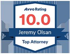 Avvo Rating 10.0 Top Attorney Jeremy Olsan